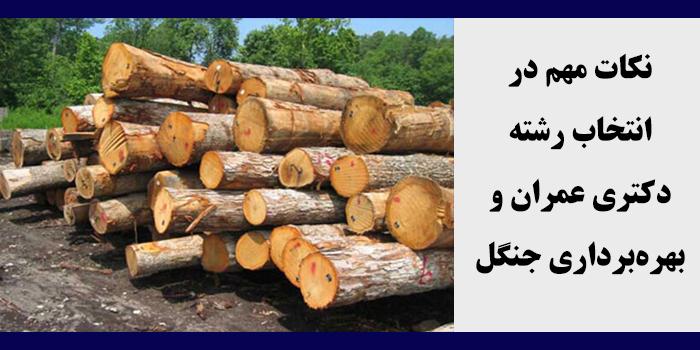 مشاوره انتخاب رشته دکتری عمران و بهره برداری جنگل